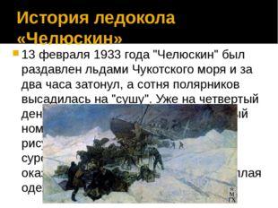 """История ледокола «Челюскин» 13 февраля 1933 года """"Челюскин"""" был раздавлен льд"""