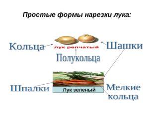Простые формы нарезки лука: ЛУК ЗЕЛЕНЫЙ Лук зеленый