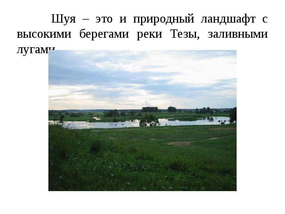 Шуя – это и природный ландшафт с высокими берегами реки Тезы, заливными луга...