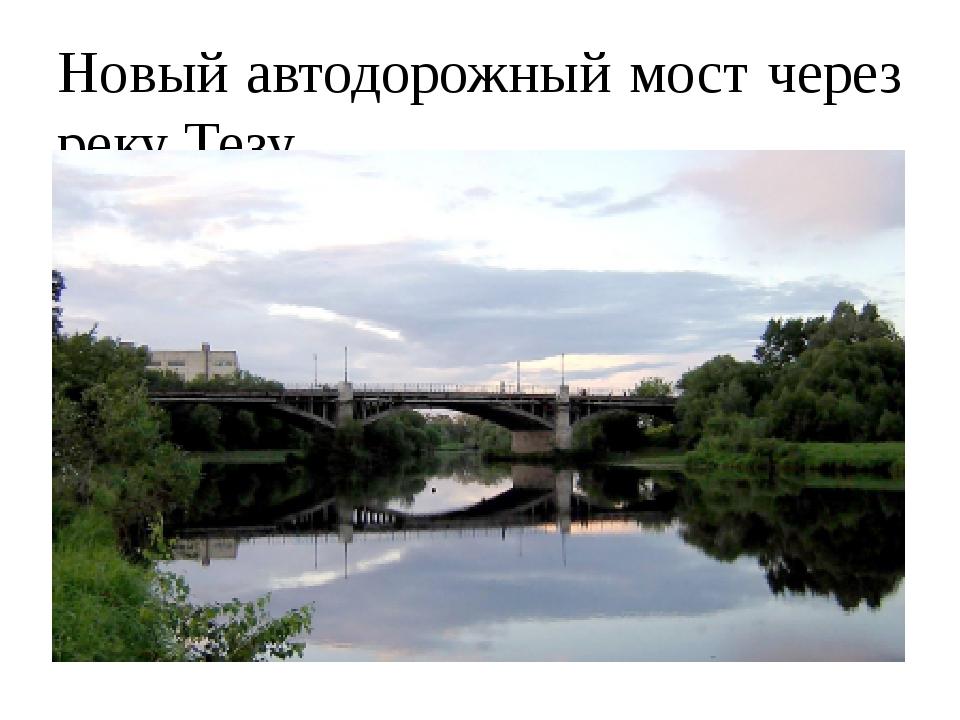 Новый автодорожный мост через реку Тезу.