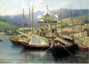 Мясоедов Григорий Григорьевич (1834-1911). Пристань в Ялте