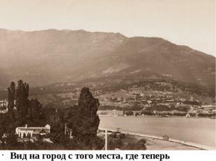 """Вид на город с того места, где теперь гостиница """"Ореанда"""": 1882-1883. У лево"""