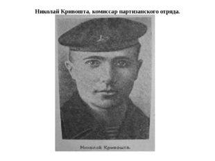Николай Кривошта, комиссар партизанского отряда.