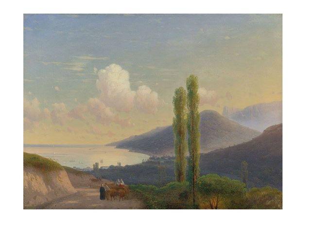 Дорога на Гурзуф. Крым. Около 1878