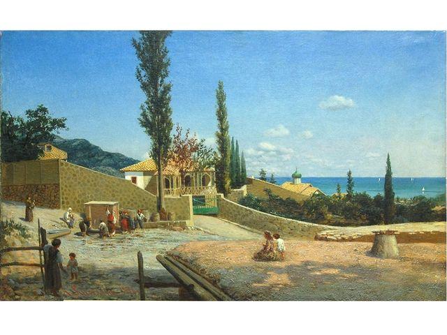 Киселев Александр Александрович (1838-1911). Крымский пейзаж Вид Ялты