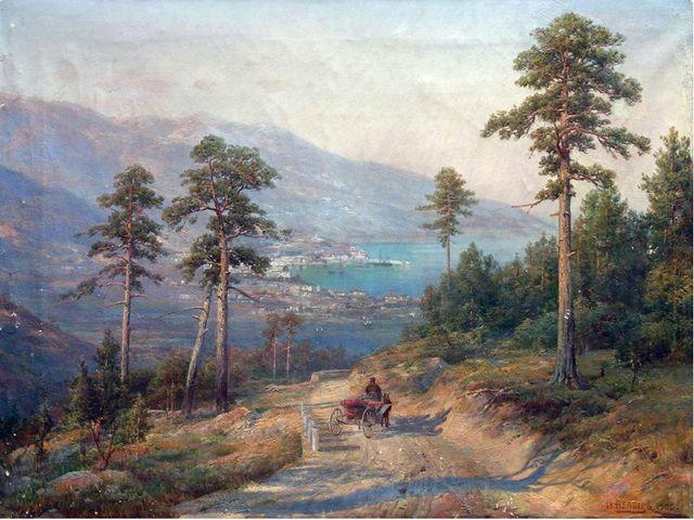 Иван Августович Вельц (1866-1926). Вид на Ялту