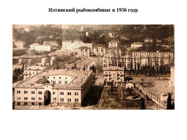 Ялтинский рыбокомбинат в 1956 году.