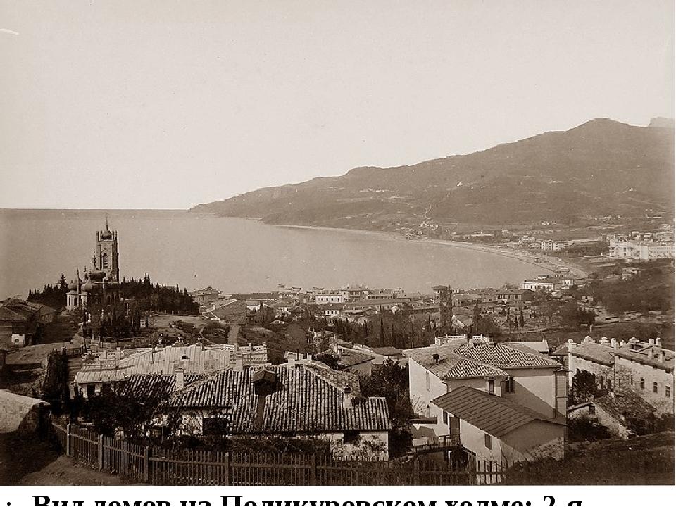 Вид домов на Поликуровском холме: 2-я половина 1870-х.