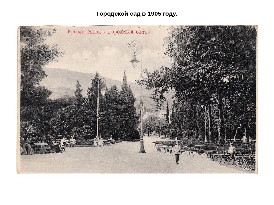 Городской сад в 1905 году.