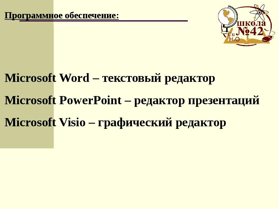 Microsoft Word – текстовый редактор Microsoft PowerPoint – редактор презента...