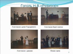 Гоголь Н.В.«Ревизор» Хлестаков в доме Городничего Хлестаков берет взятки * Не