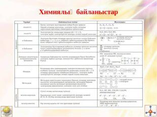 Химиялық байланыстар