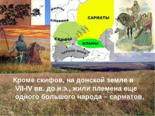 Кроме скифов, на донской земле в VII-IV вв. до н.э., жили племена еще одного
