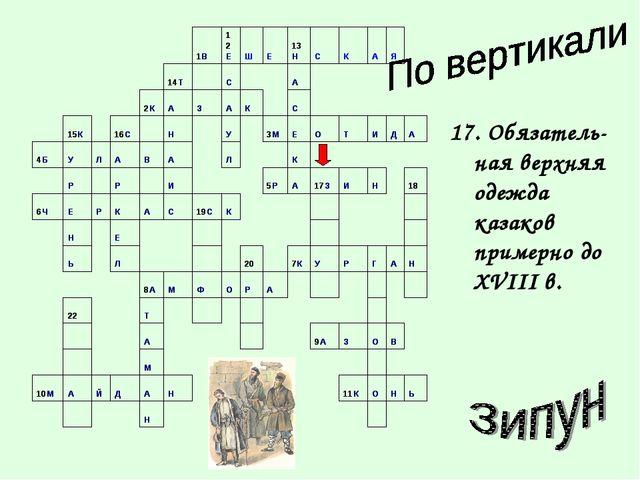 17. Обязатель-ная верхняя одежда казаков примерно до XVIII в.
