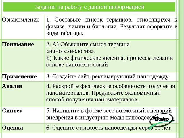 Ознакомление 1. Составьте список терминов,относящихся к физике, химии и биоло...