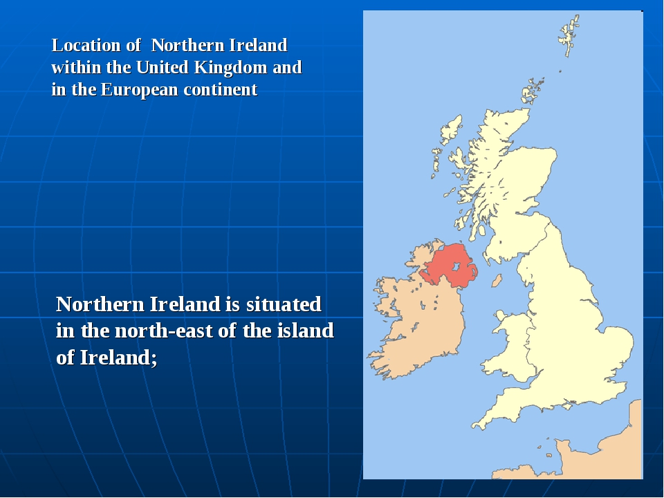 Location of Northern Ireland within the United Kingdom and in the European co...