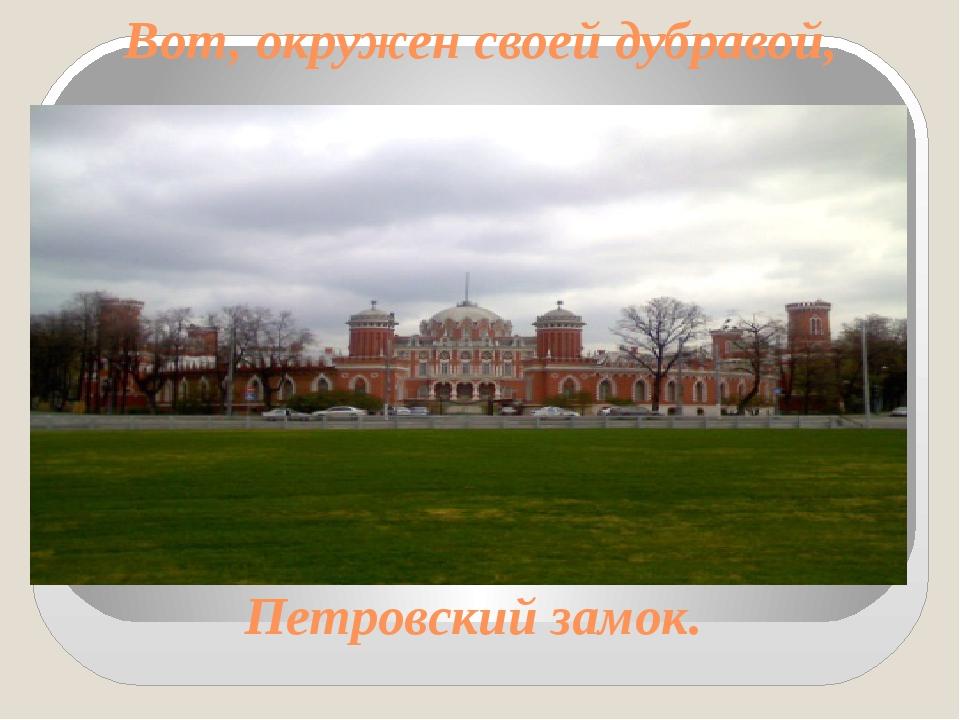 Вот, окружен своей дубравой, Петровский замок.