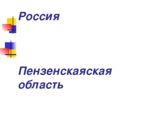 Россия Пензенскаяская область Камешкирский район Село Русский Камешкир