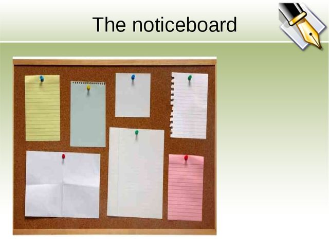 The noticeboard
