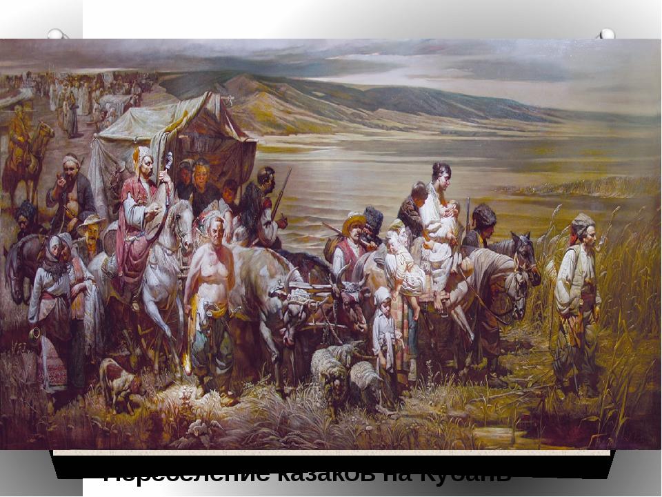 Переселение казаков на Кубань