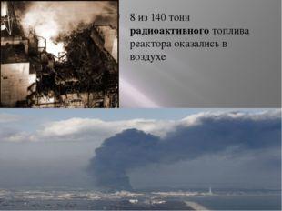 8 из 140 тонн радиоактивного топлива реактора оказались в воздухе