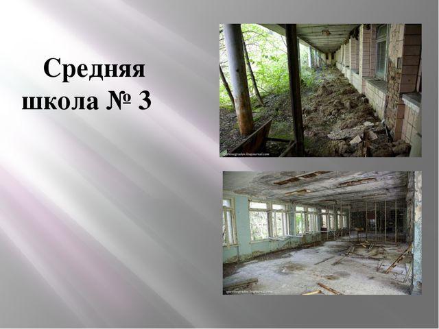 Средняя школа№ 3