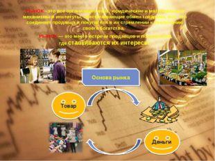 РЫНОК –это все организационные, юридические и материальные механизмы и инсти