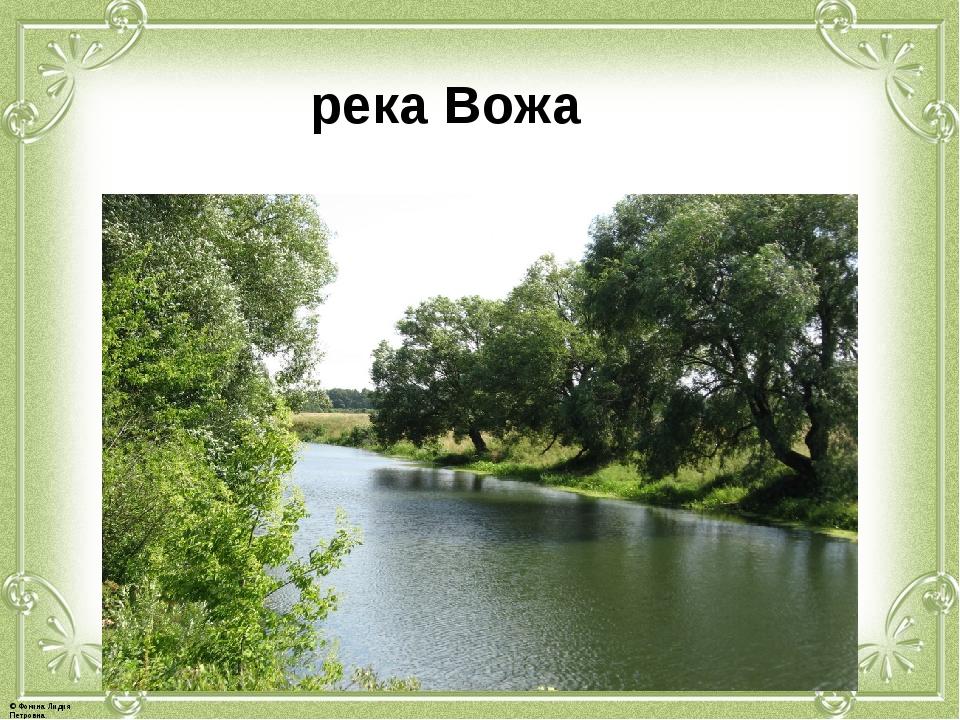 река Вожа © Фокина Лидия Петровна
