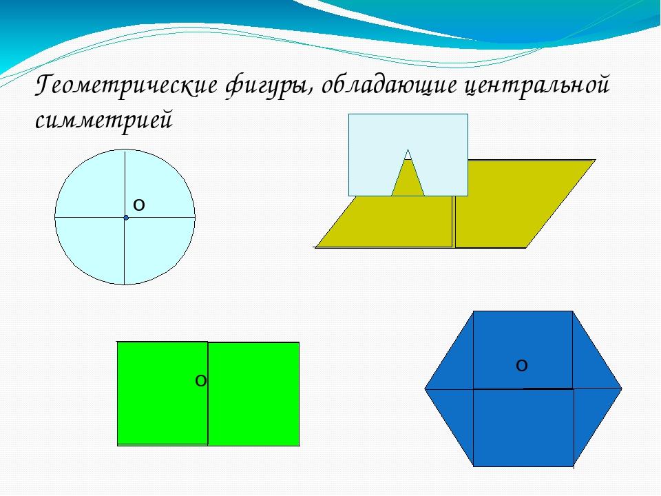 Геометрические фигуры, обладающие центральной симметрией О О О О