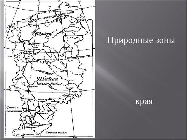 П Природные зоны Красноярского края