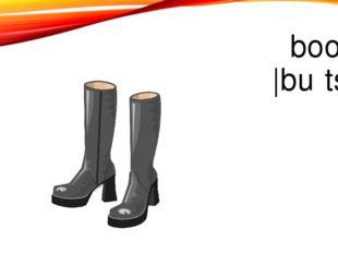 boots |buːts |
