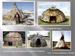 северные чумы азиатские юрты Вигвам -жилище индейцев Северной Америки типи-