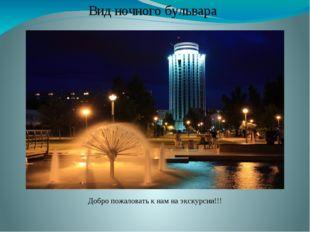Добро пожаловать к нам на экскурсии!!! Вид ночного бульвара