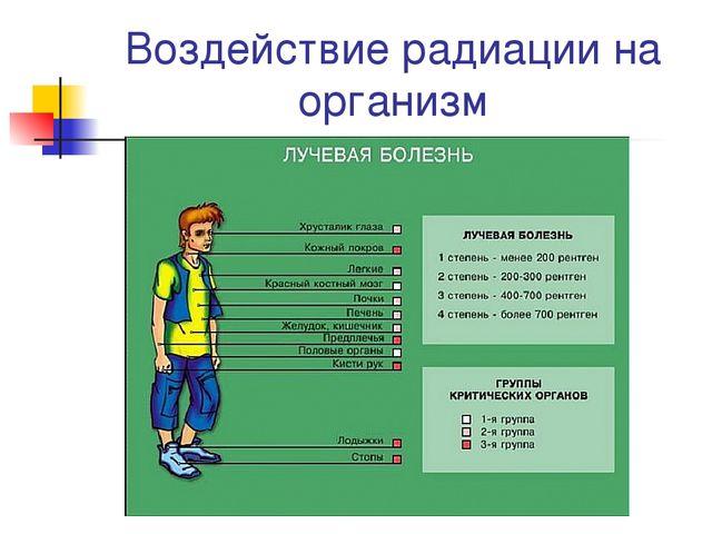 Воздействие радиации на организм