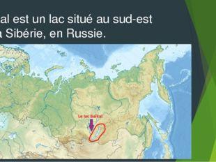 Baïkal est un lac situé au sud-est de la Sibérie, en Russie.