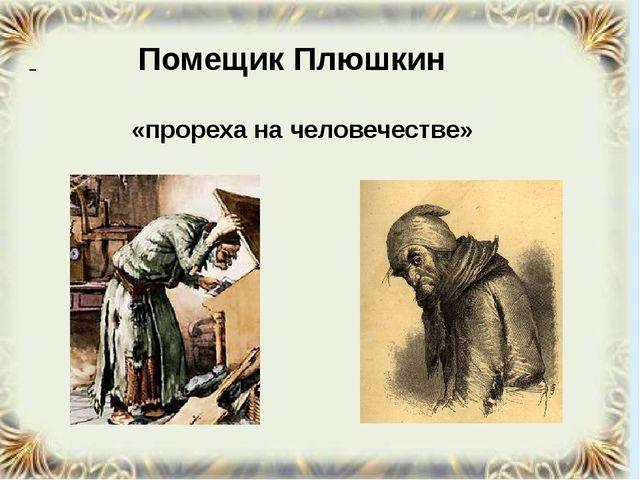 Помещик Плюшкин «прореха на человечестве»