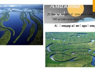 Амазонка өзені Дүние жүзіндегі ең суы мол өзен 500 астам салалары бар Ақ өзе