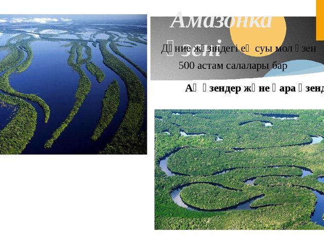 Амазонка өзені Дүние жүзіндегі ең суы мол өзен 500 астам салалары бар Ақ өзе...