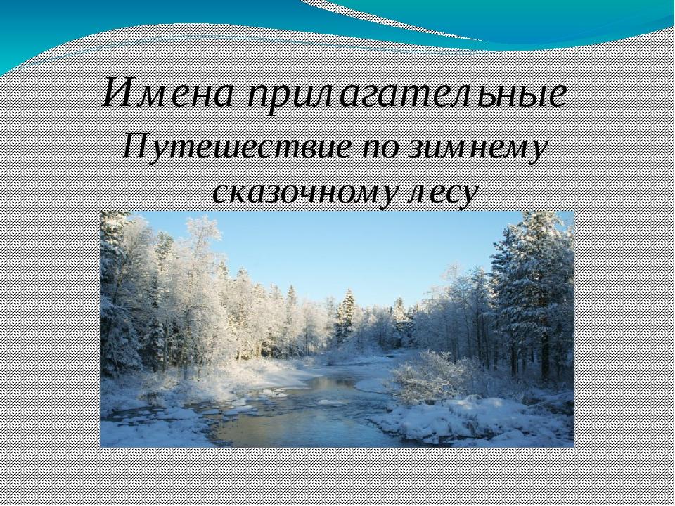 Имена прилагательные Путешествие по зимнему сказочному лесу