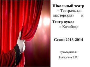 Школьный театр « Театральная мастерская» и Театр кукол « Колобок» Сезон 2013