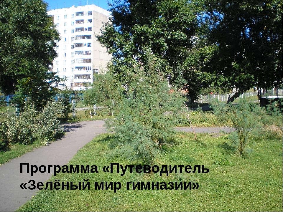 Программа «Путеводитель «Зелёный мир гимназии»