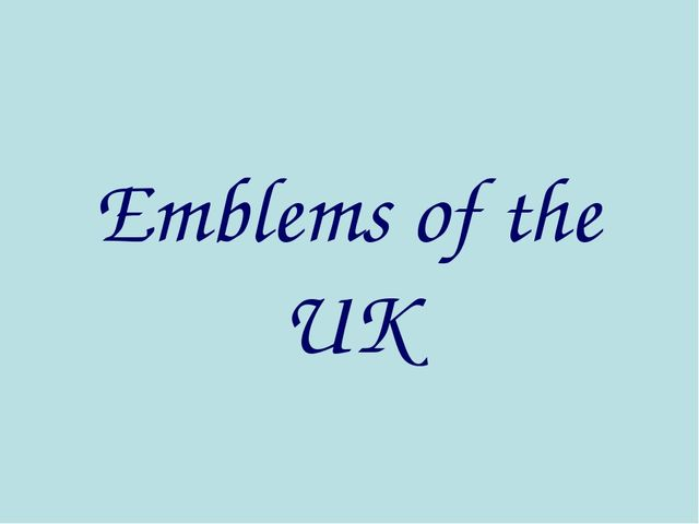 Emblems of the UK