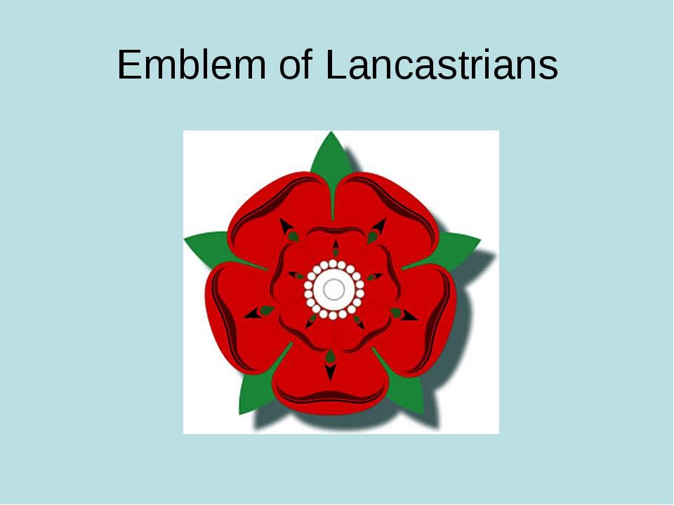 Emblem of Lancastrians