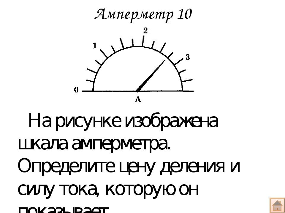 Вольтметр 10 На рисунке приведена схема электрической цепи и показание амперм...