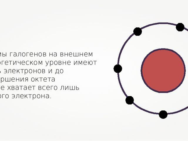 Атомы галогенов на внешнем энергетическом уровне имеют семь электронов и до з...