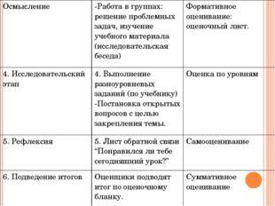 Осмысление -Работав группах: решение проблемных задач, изучение учебного мате