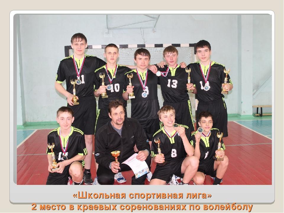 «Школьная спортивная лига» 2 место в краевых соренованиях по волейболу