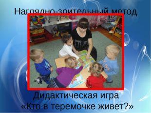 Наглядно-зрительный метод Дидактическая игра «Кто в теремочке живет?»