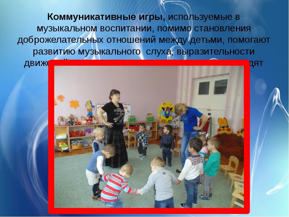 Коммуникативные игры,используемые в музыкальном воспитании, помимо становлен...