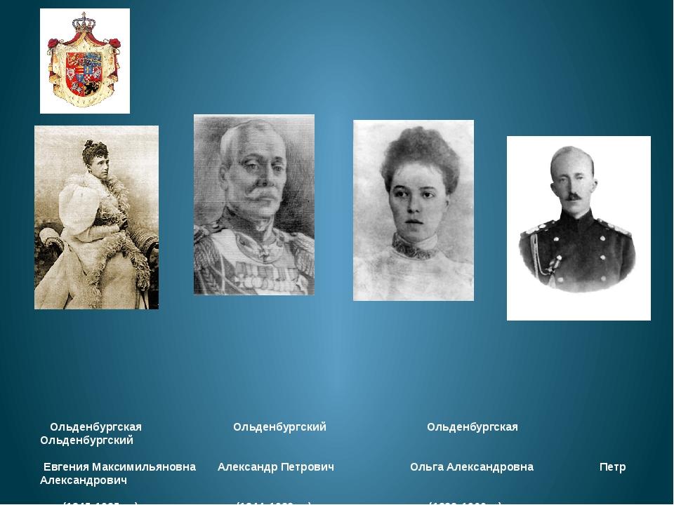 Ольденбургская Ольденбургский Ольденбургская Ольденбургский Евгения Максимил...